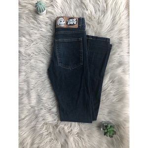 Cheap Monday Mid Rise Dark Wash Skinny Jeans